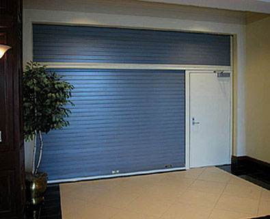 McKeon Vertical Shutter With Egress Door